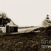 The Point Pinos Lighthouse Pacific Grove California Circa 1895 Art Print