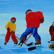 The Pond Hockey Game Art Print