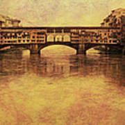 The Ponte Vecchio In Florence Italy Art Print