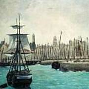 The Port At Calais Print by Edouard Manet