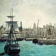 The Port At Calais Art Print