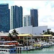 The Port Of Miami At Bayside Art Print