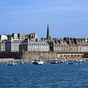 The Port Of St Malo France Art Print