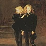 The Princes Edward And Richard Art Print by Sir John Everett Millais