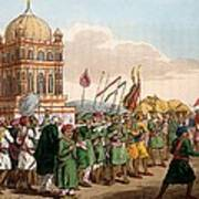 The Procession Of The Taziya, From The Art Print