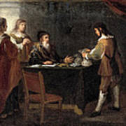 The Prodigal Son Receiving His Portion Of The Inheritance Art Print