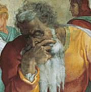 The Prophet Jeremiah Art Print by Michelangelo