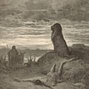 The Prophet Slain By A Lion Art Print