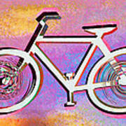 The Psychedelic Bicycle Art Print