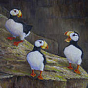 The Puffin Report Art Print
