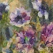 The Purple Bouquet Art Print