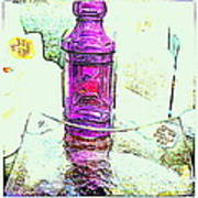 The Purple Medicine Bottle Art Print