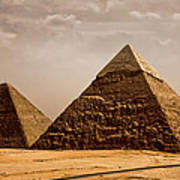 The Pyramids Of Giza Art Print