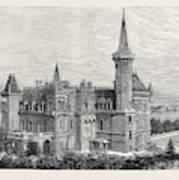 The Queens Residence In Italy Villa Clara Lago Maggiore 1879 Art Print