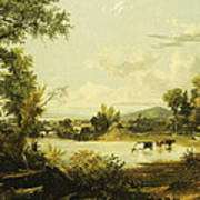 The Quiet Valley Print by Jasper Francis Cropsey