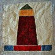 The Quilt Work Of Chambers Island Lighthouse  Art Print