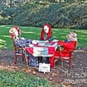 The Quilting Bee Scarecrows Art Print