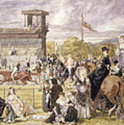 The Races At Longchamp In 1874 Art Print