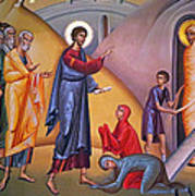 the raising of Lazarus from the dead Art Print