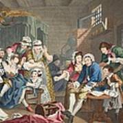 The Rake In Prison, Plate Vii, From A Art Print