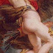 The Rape Of Ganymede Print by Rubens