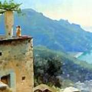 The Ravello Coastline Art Print