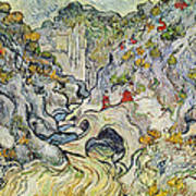The Ravine Of The Peyroulets Print by Vincent van Gogh