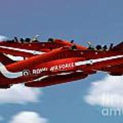 The Red Arrows Synchro Pair Art Print