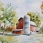 The Red Barn Print by Bobbi Price