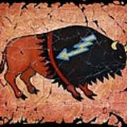 The Red  Buffalo Fresco Art Print