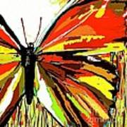 The Red Butterfly Art Print