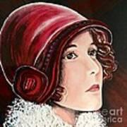 Red Cloche Art Print