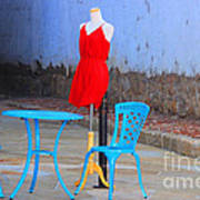 The Red Dress Lunch Special Art Print