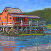 The Red Fish House Art Print