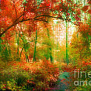 The Red Forest Art Print