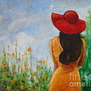 The Red Hat Art Print