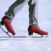 The Red Ice Skates Art Print