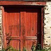 The Red Mill Door Art Print
