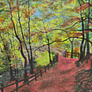 The Red Path Art Print by Leo Gehrtz
