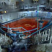 The Red Pool Art Print