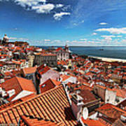 The Red Roofs Of Lisbon #2 Art Print