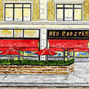 The Red Rooster Art Print