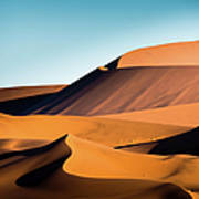 The Red Sand Dunes In Namibia Art Print