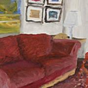 The Red Sofa Art Print