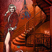 The Red Stair Art Print