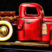 The Red Truck Art Print