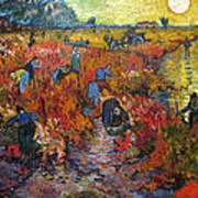 The Red Vineyard Art Print