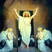 The Resurrection Of Christ By Carl Heinrich Bloch  Art Print