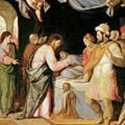 The Resurrection Of Jairus's Daughter Art Print