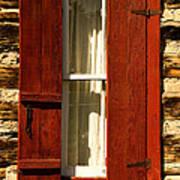 The Reynold's Cabin Window Art Print